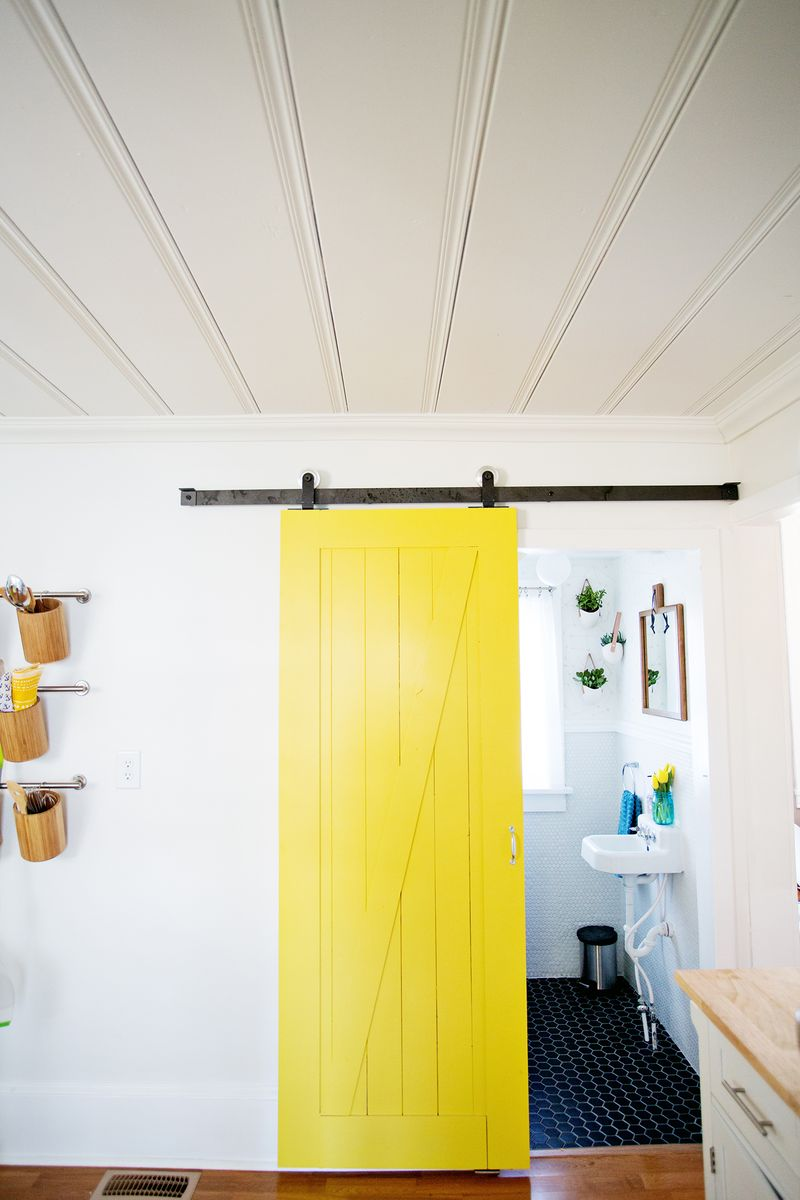 Yellow barn door