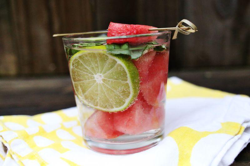 Watermelon + Basil mojito