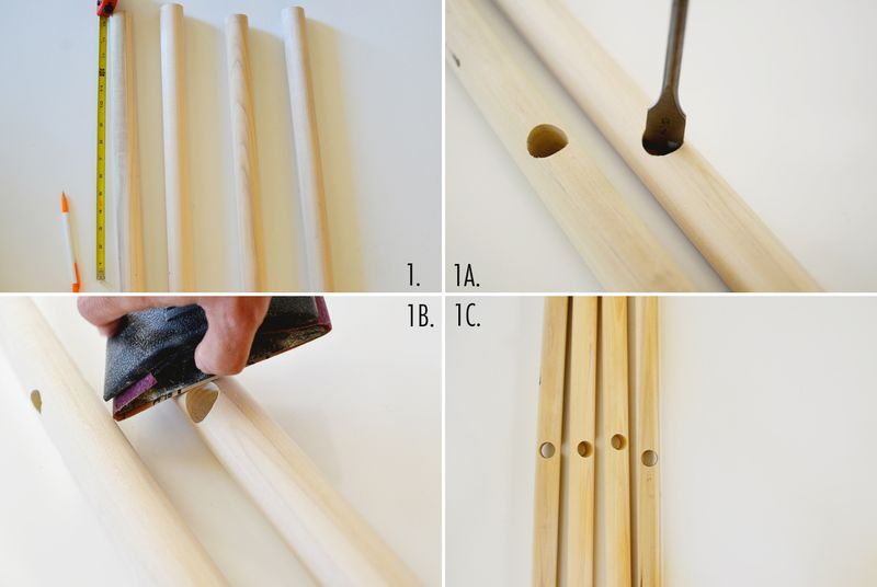DIY clothing rack step 1