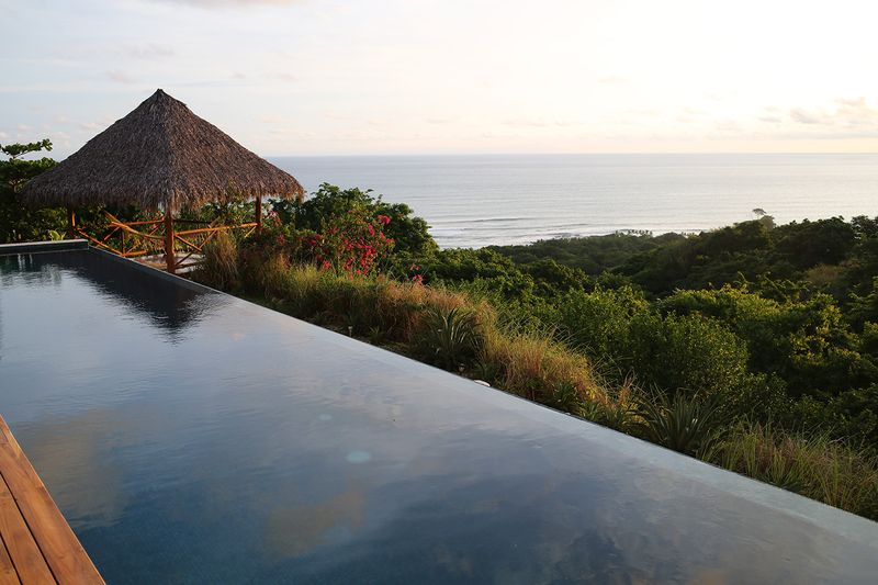 The view from the pool deck