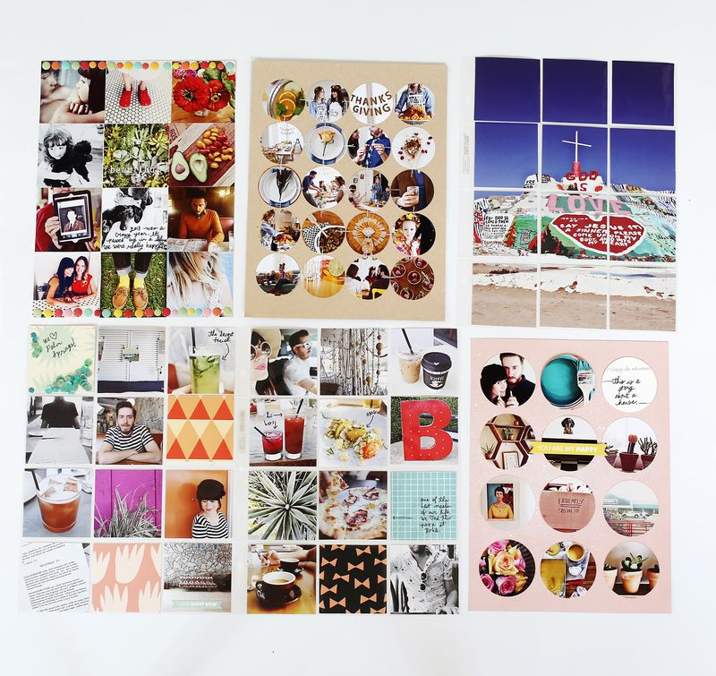 Photo Filled Scrapbook Pages (via A Beautiful Mess)