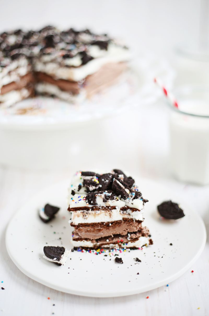 Easiest ever ice cream cake