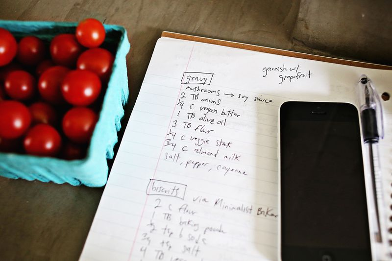 Cooking notes