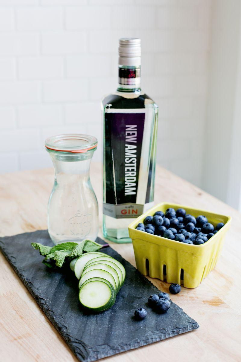 Blueberry Cucumber Sparkler