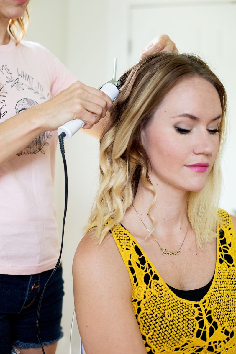 Step 1- create waves with your curling iron