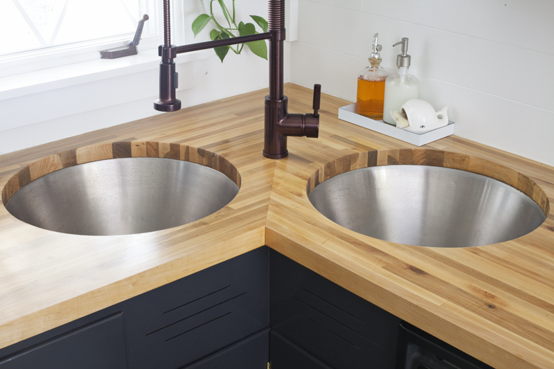 Installing Butcher Block Counters with an Undermount Sink - A ...