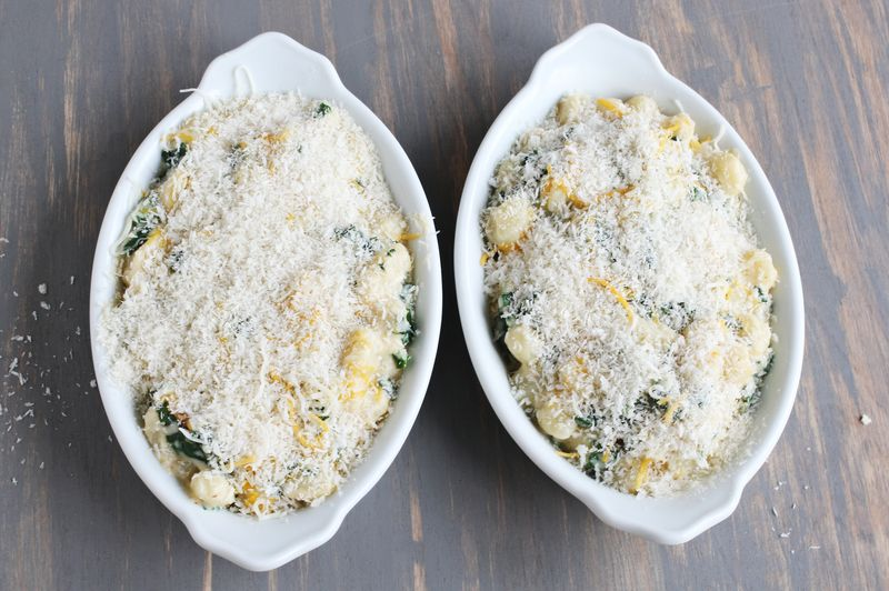 Homemade baked gnocchi