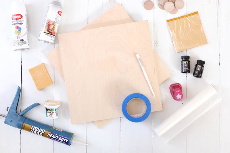 Make a beautiful Gold Leaf Checkerboard for display & for play!