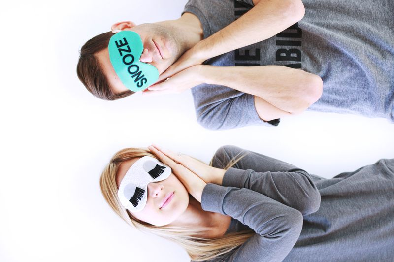 Make Your Own Eye Mask abeautifulmess.com