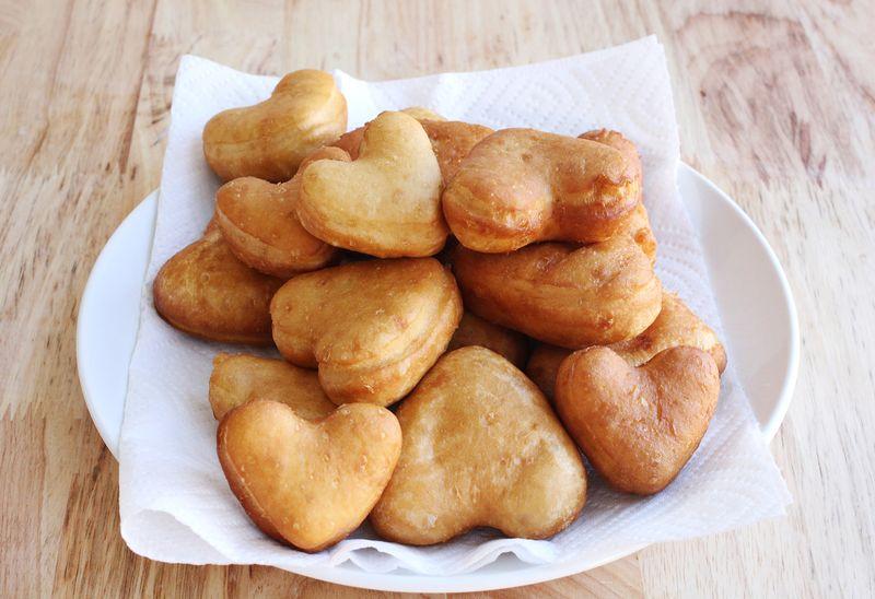 Heart shaped donuts!