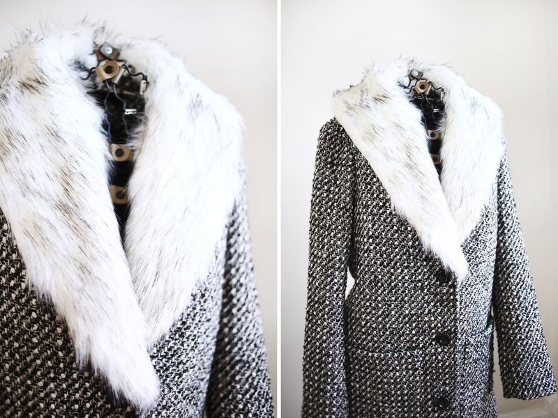 Detachable Fur Coat Collar DIY abeautifulmess.com