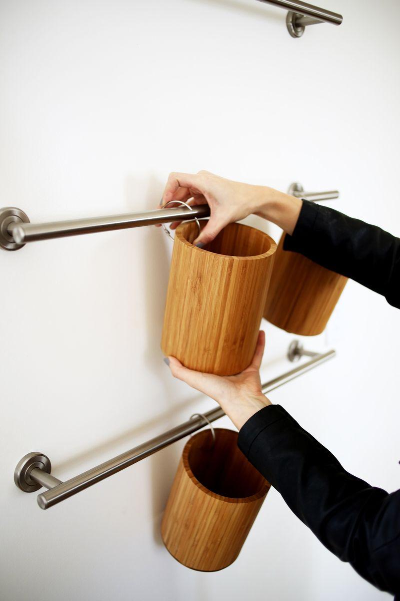 Vertical Kitchen Organization abeautifulmess.com
