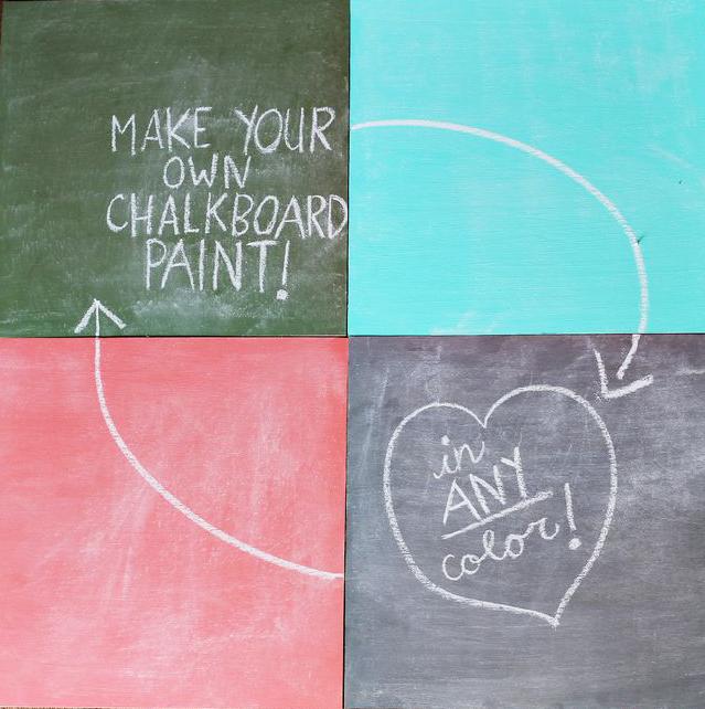 Mix Chalkboard Paint