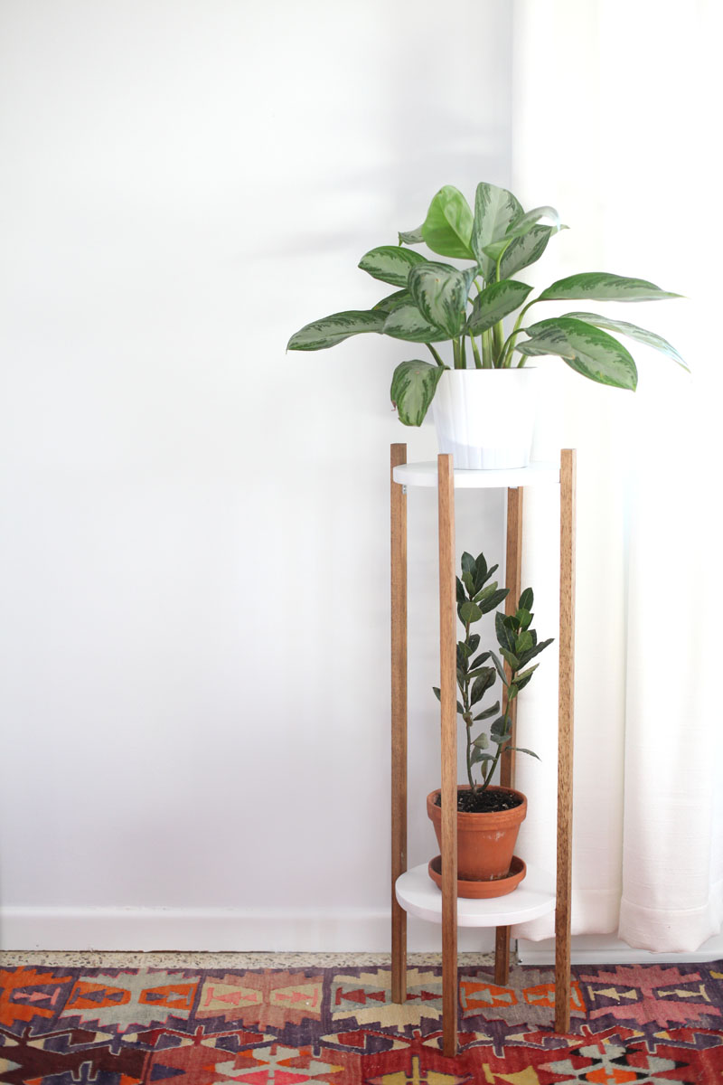 Mid Century Inspired Plant Stand Diy A Beautiful Mess