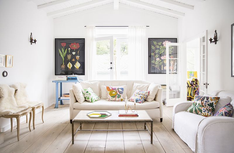 Gorgeous living space with the perfect pops of color