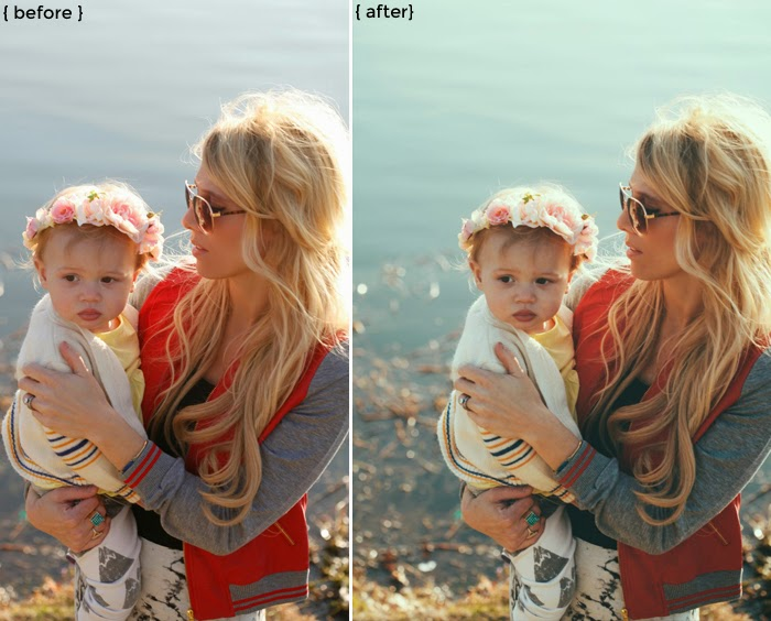 Before + After using A Beautiful Mess Actions