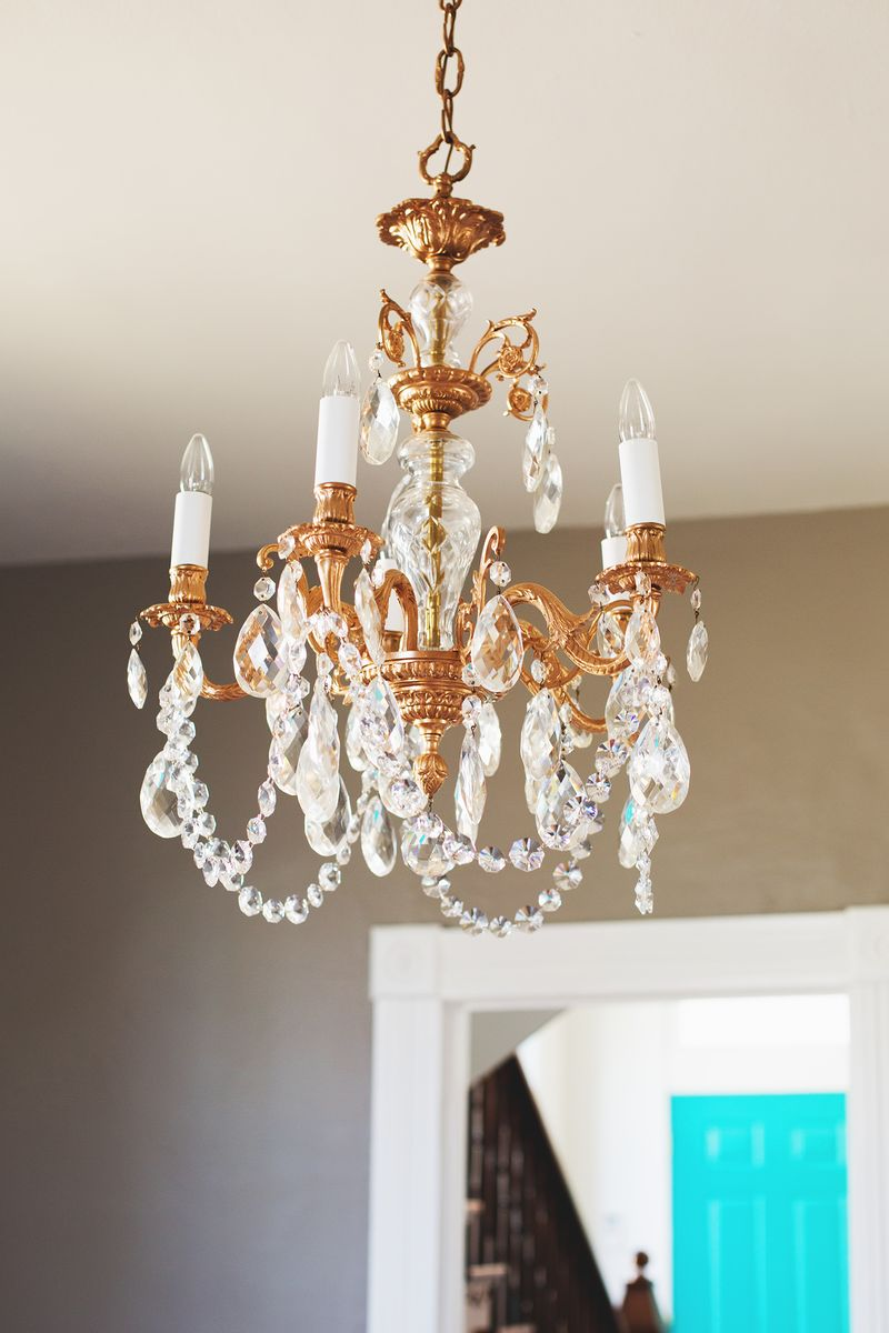 Our restyled copper chandelier a beautiful mess our restyled copper chandelier abeautifulmess aloadofball Gallery