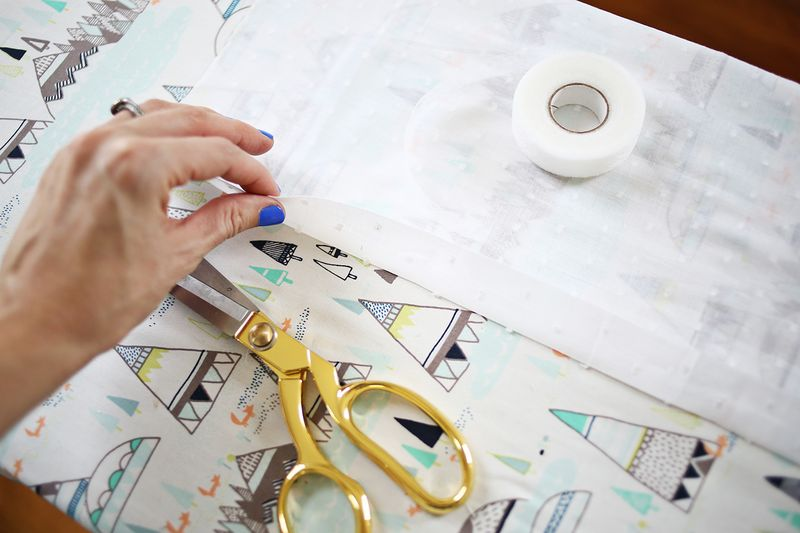 Easy No Sew Curtains abeautifulmess.com