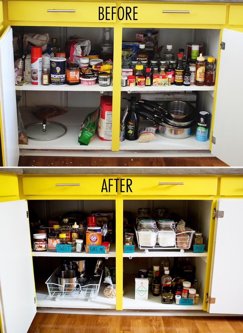 tips for organizing your kitchen cabinets - Kitchen Cabinet Organizers