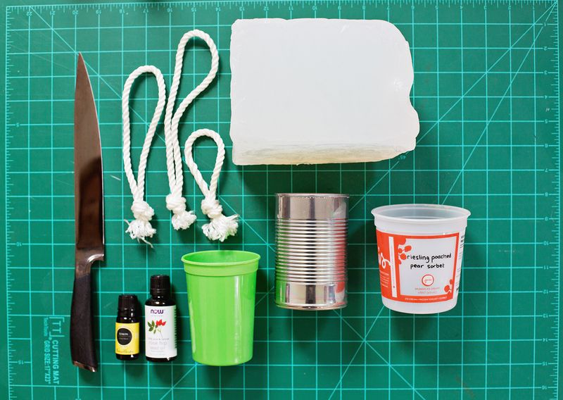 Supplies for DIY Soap On A Rope