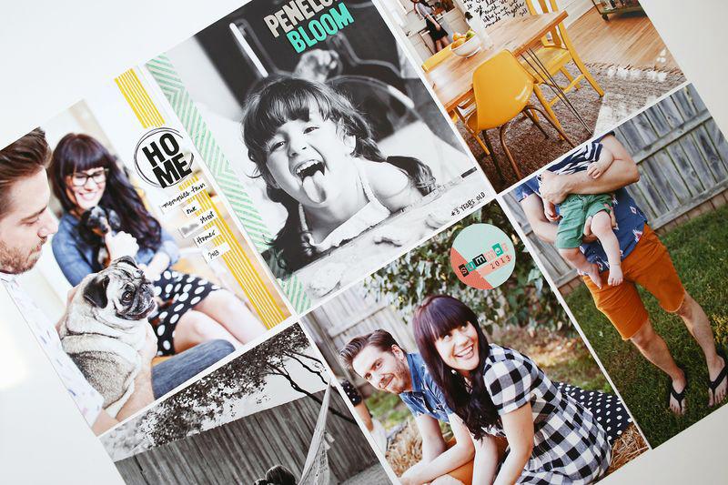 Full-page photo scrapbook ideas