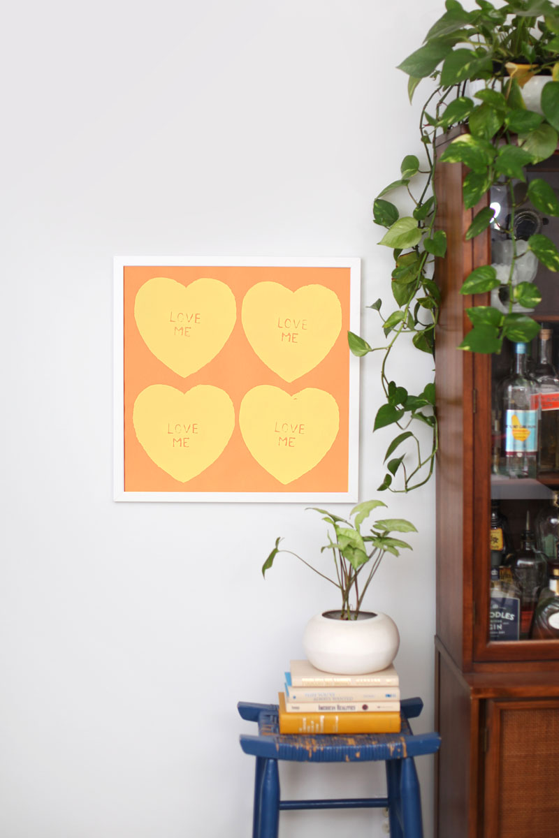 Screen print your own conversation hearts