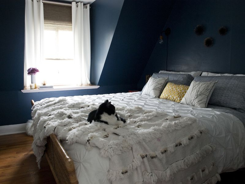 Love the wall color in this space