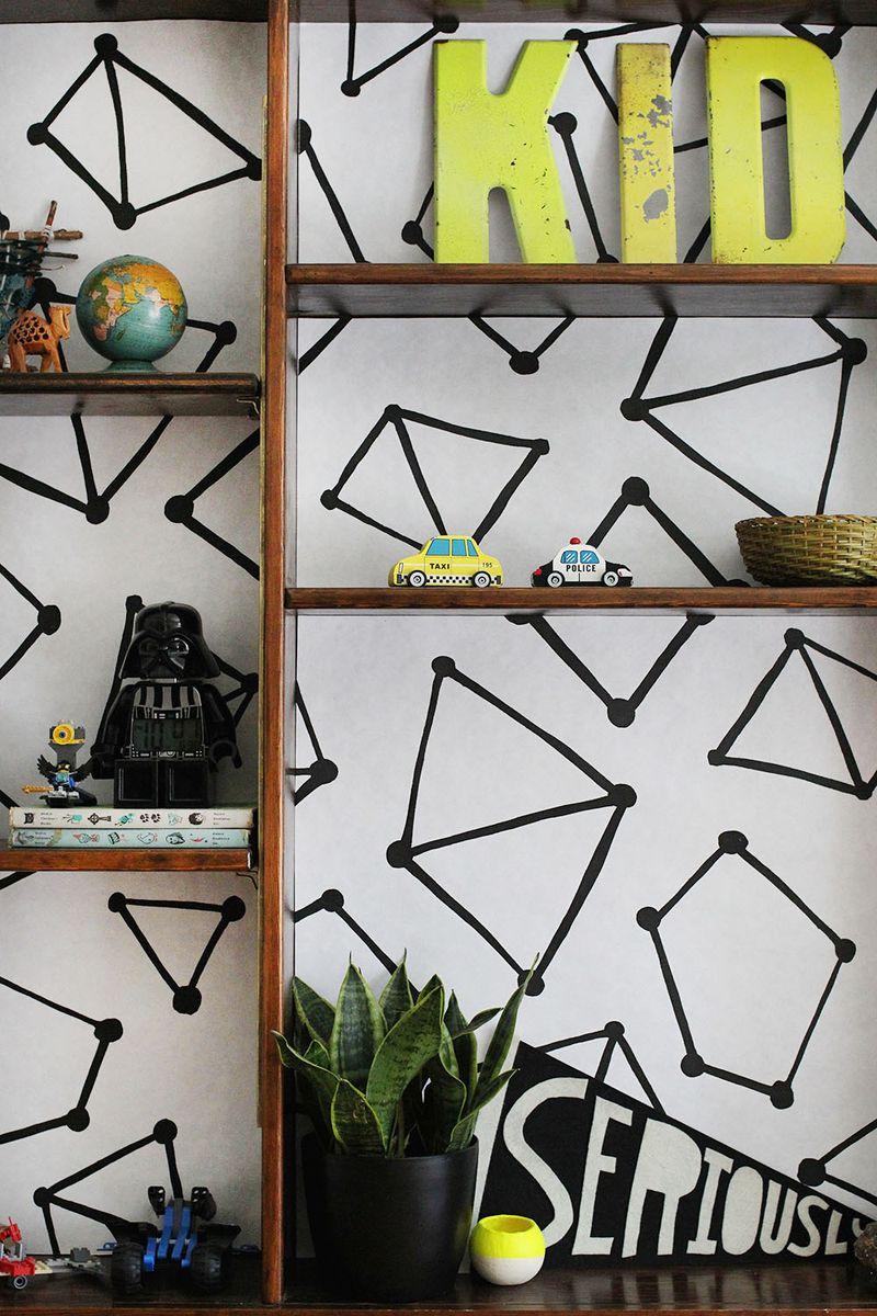 Design Your Own Bookshelf Wallpaper