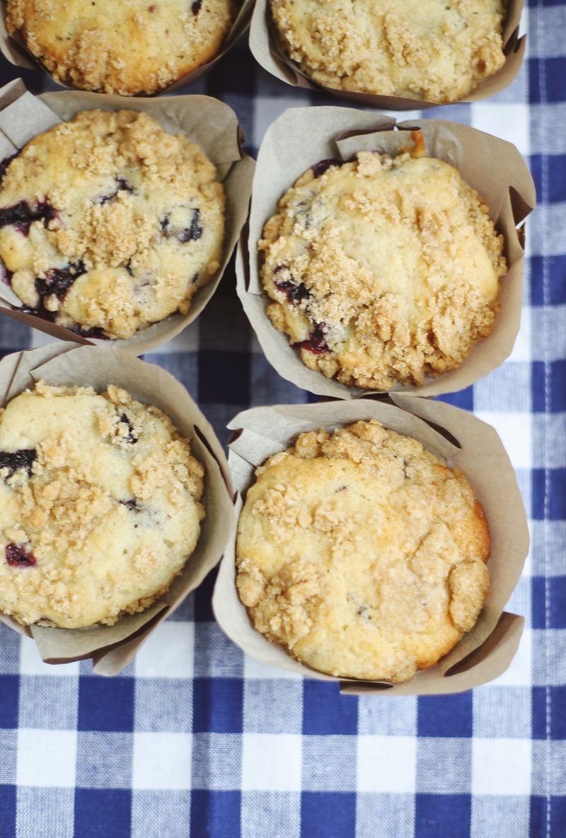 Blueberry and lavender muffins