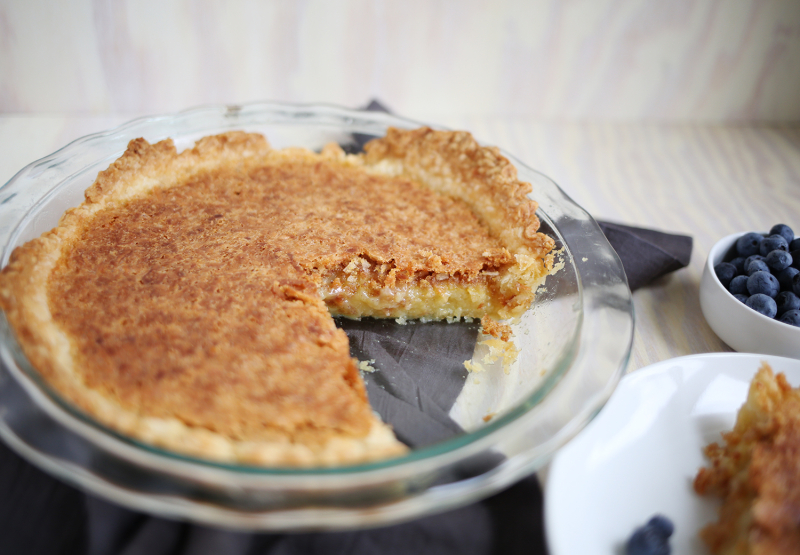 Toasted coconut chess pie (click through for recipe)