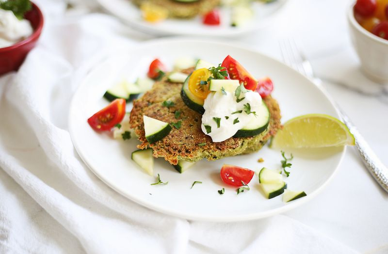 Baked quinoa falafel (click through for recipe)