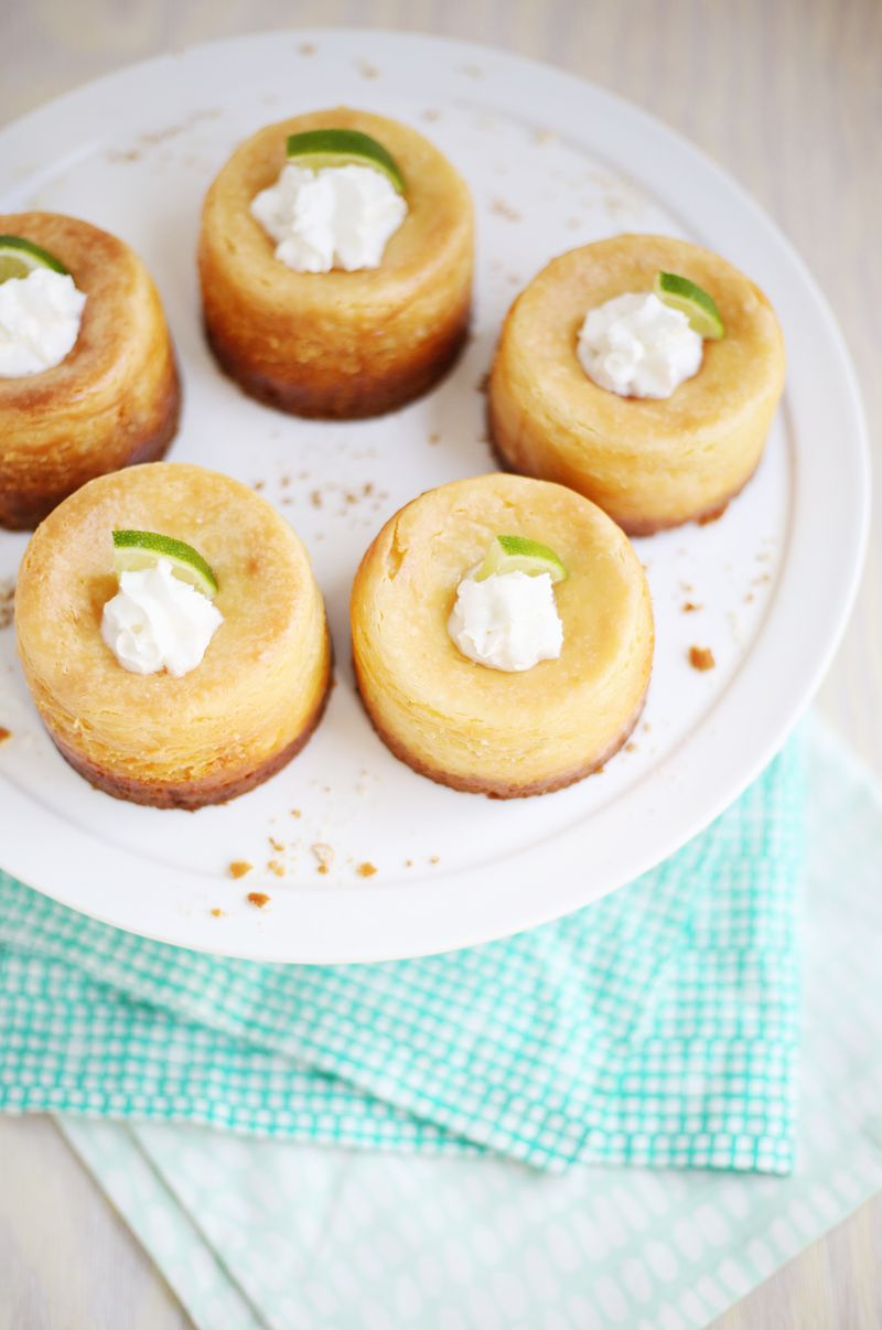 Lime scented cheesecake