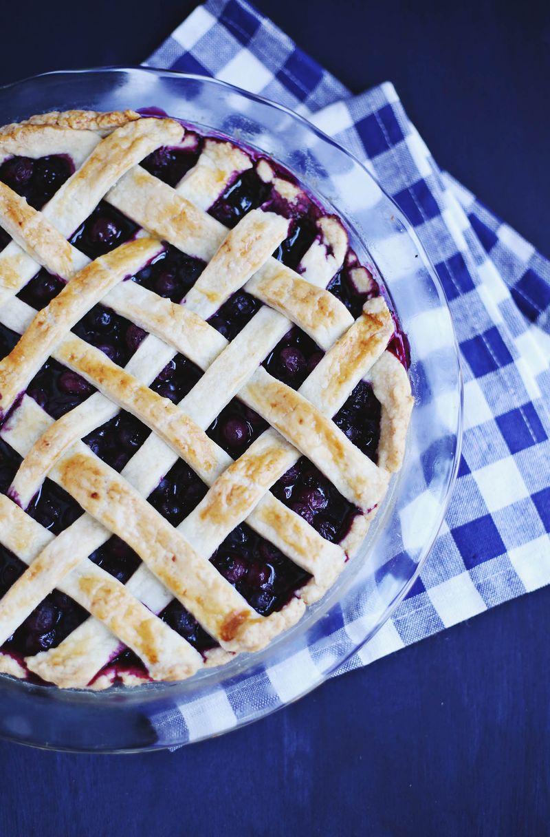 Zesty blueberry pie
