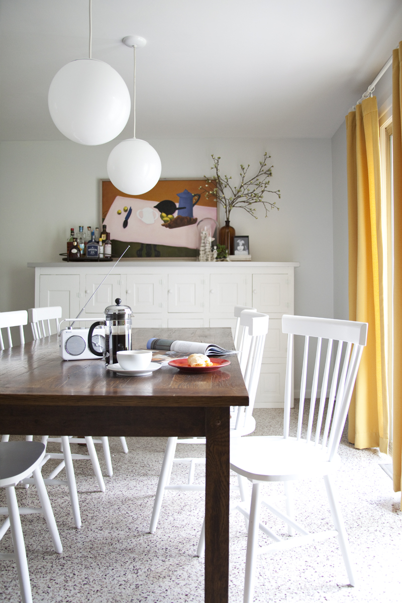 Eclectic Dining Room Before & After on A Beautiful Mess