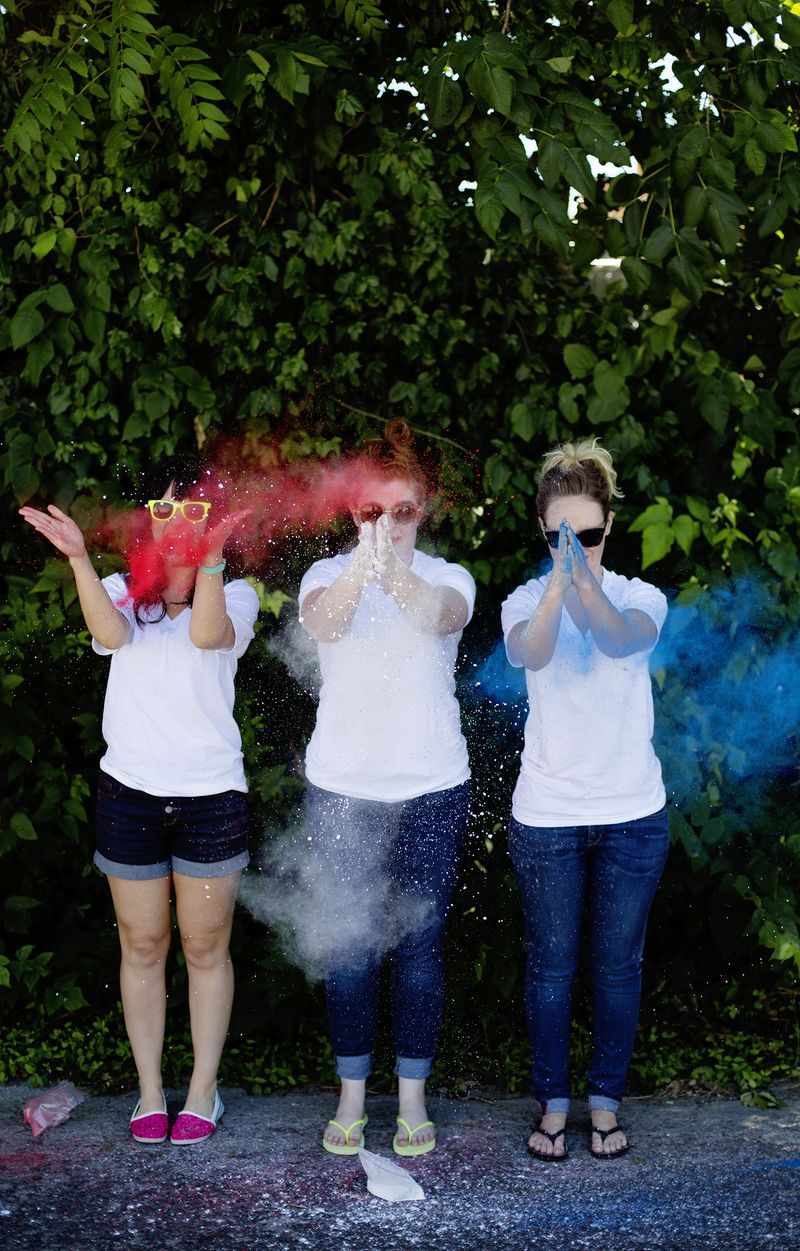 DIY color run powder
