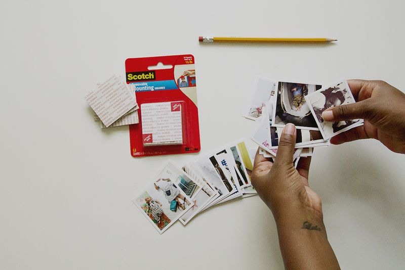 Instagram picture heart display (click through for tutorial!)
