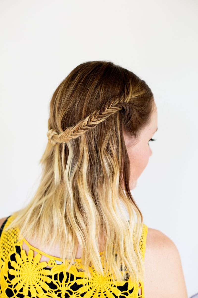 Adorable festival style for medium hair