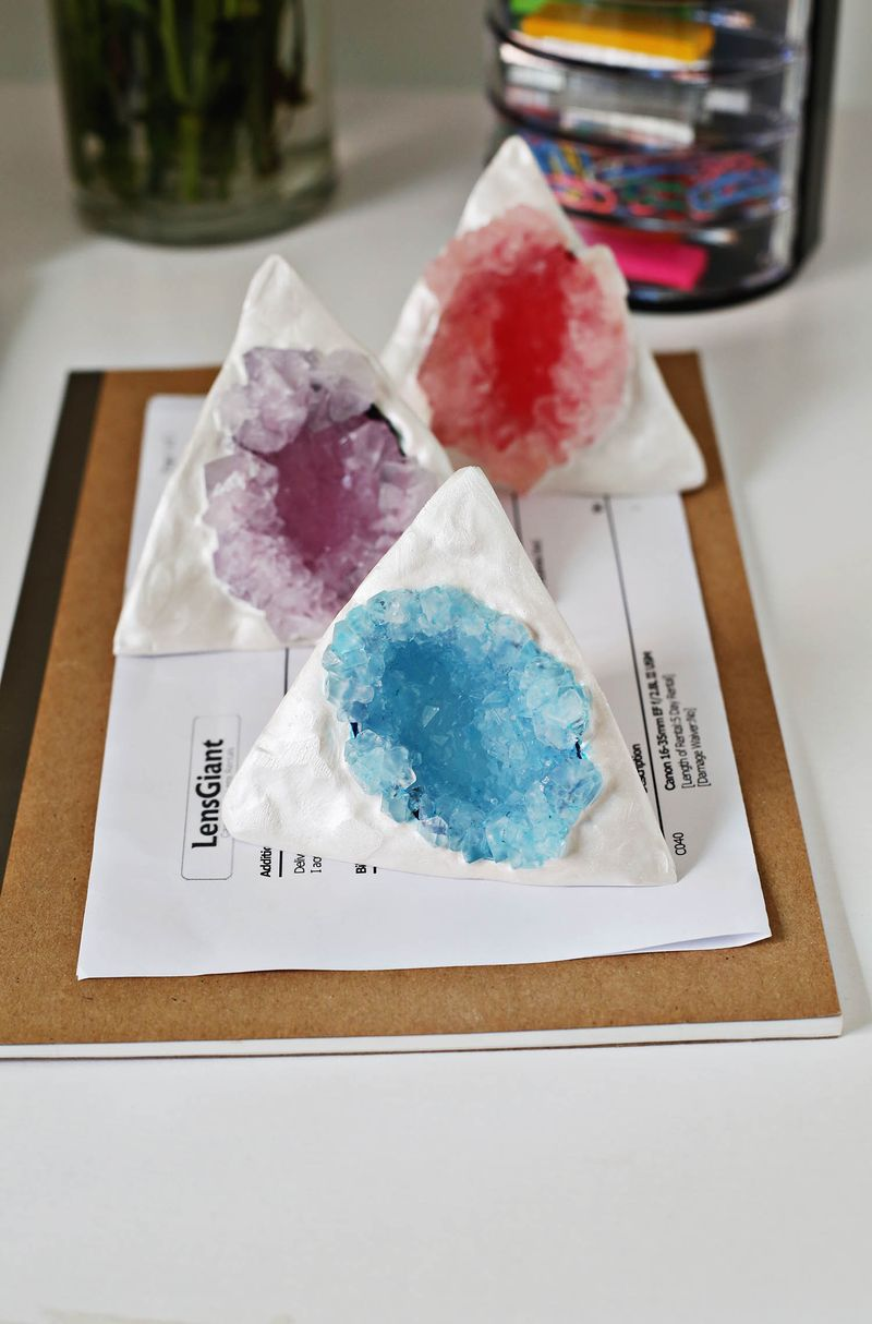 How to make your own crystal paper weights