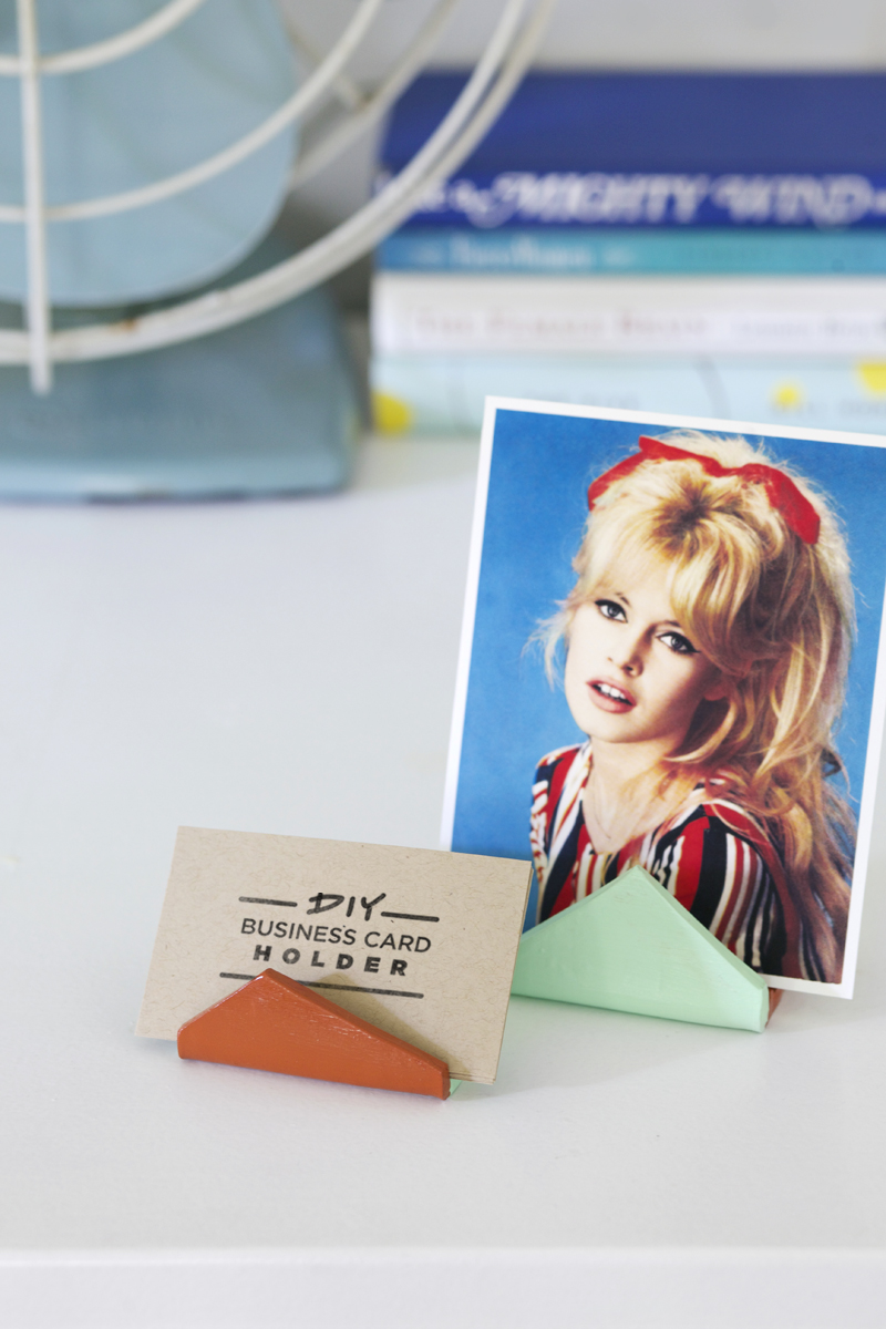 Diy Business Card Holder A Beautiful Mess
