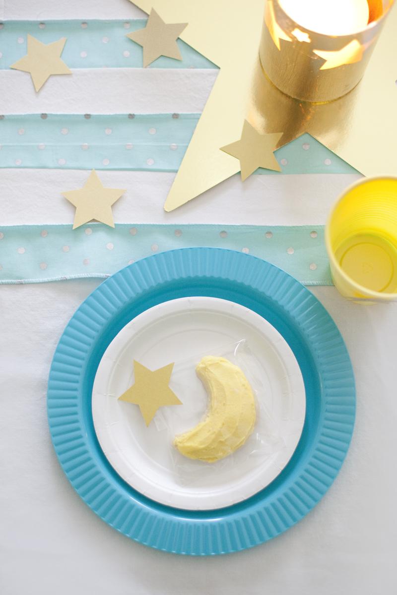 moon birthday party cookies