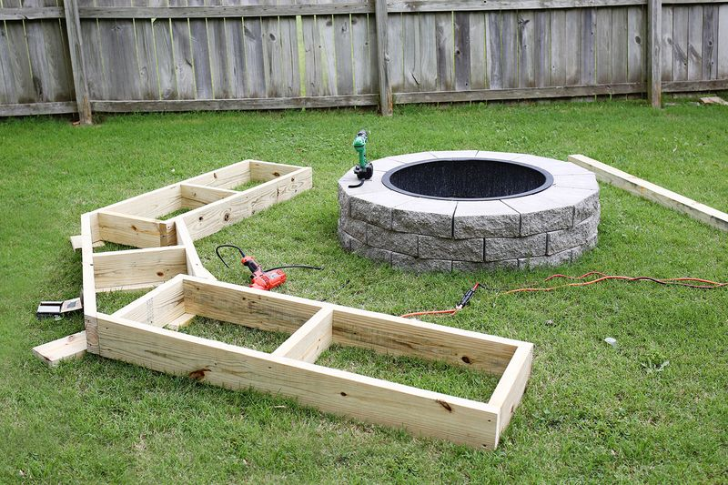 Build Your Own Curved Fire Pit Bench A Beautiful Mess
