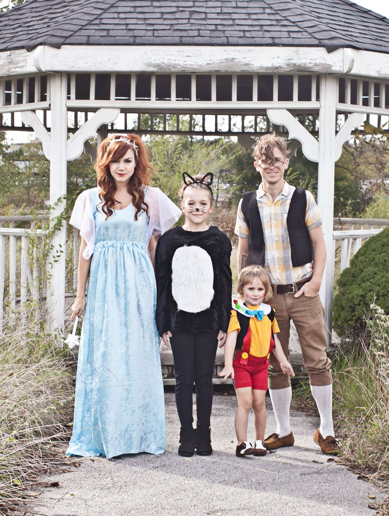 Pinocchio themed family costume