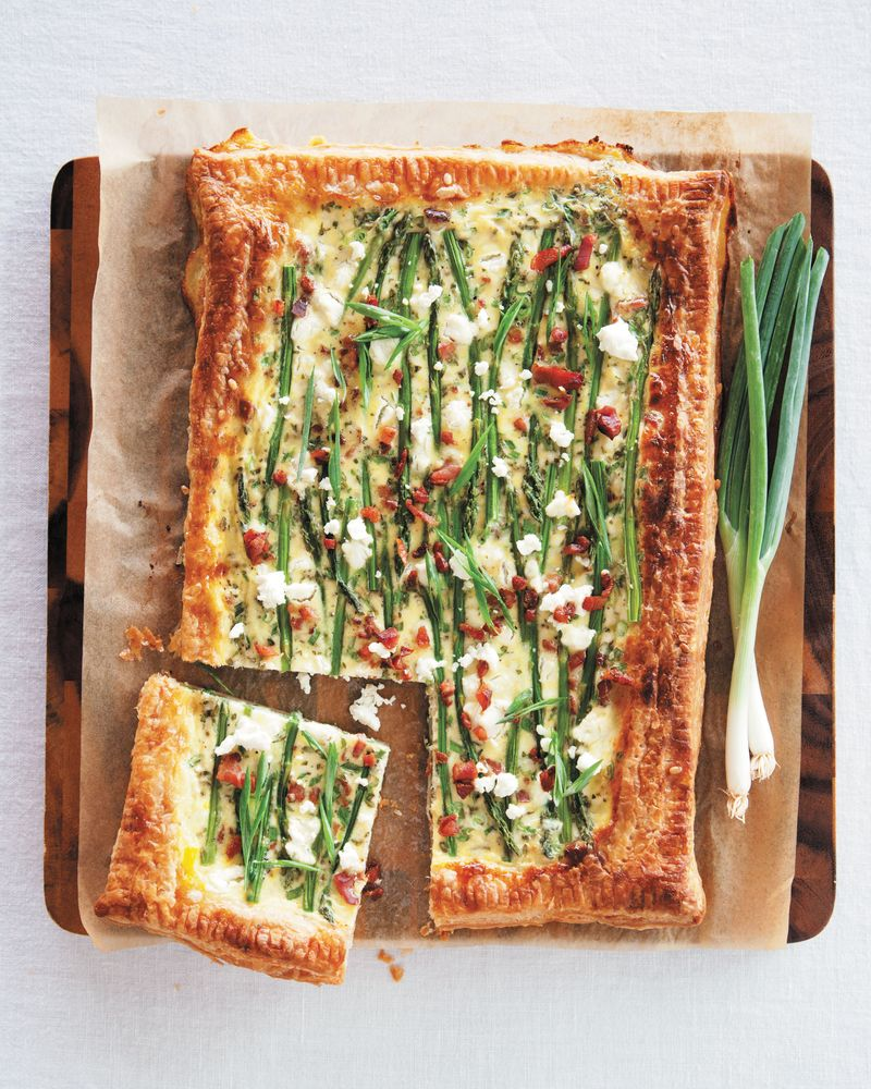 Bacon cheese tart