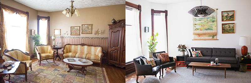 Sarah's living room - before and after!