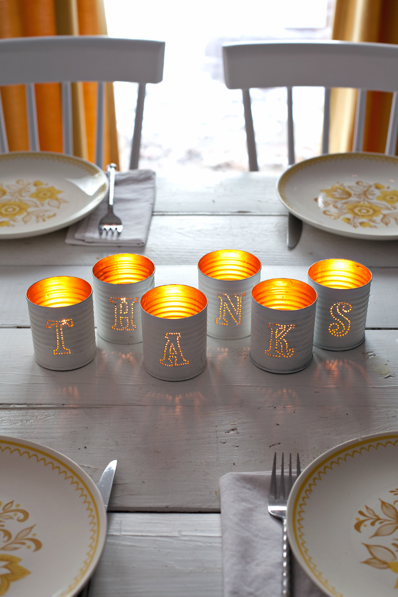 Tin-punched candle holders— they're practically free to make!