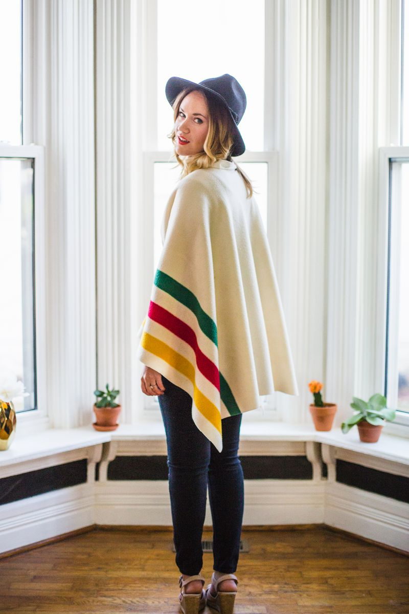 No sew blanket sweater from A Beautiful Mess