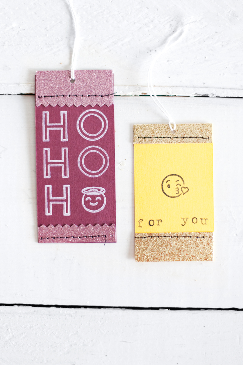 Cards and tags made with A Beautiful Mess Stamps