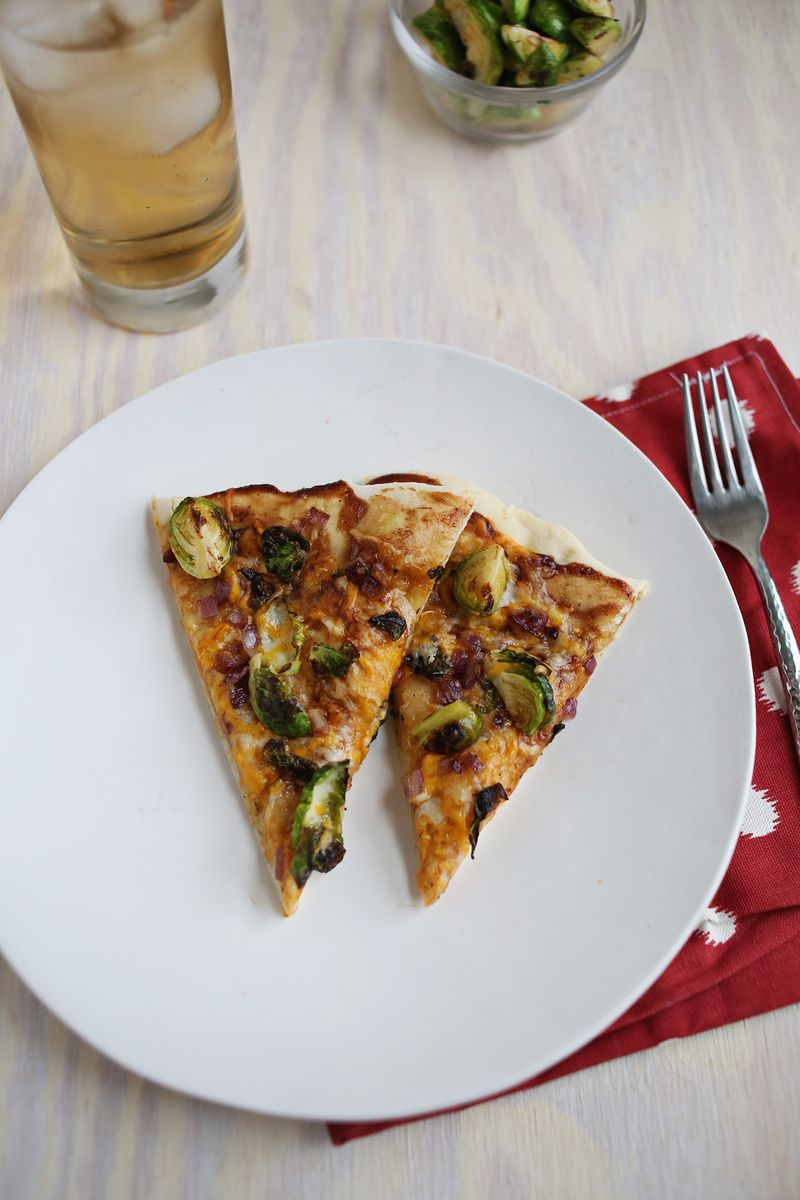 BBQ Brussels Sprout Pizza