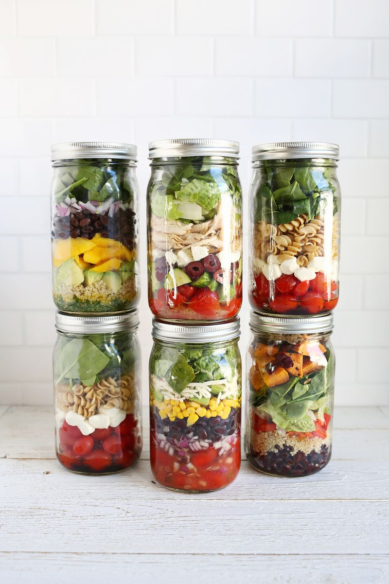Make Lunches Easy This Year With Salads In Jars A Beautiful Mess