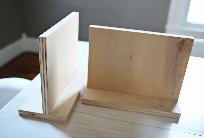 Book end wood frames